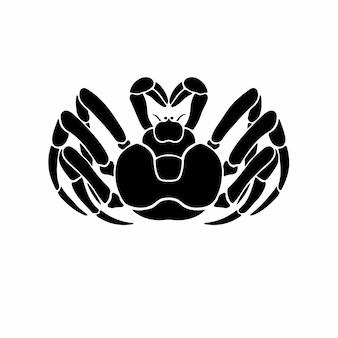 Krab logo symbool stencil ontwerp tattoo vectorillustratie