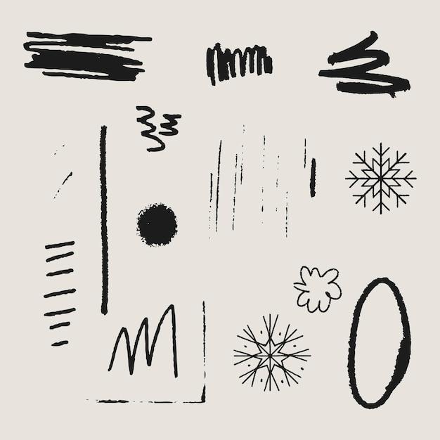Krabbel patroon achtergrond vector