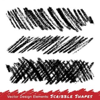 Krabbel uitstrijkjes hand getrokken in potlood.