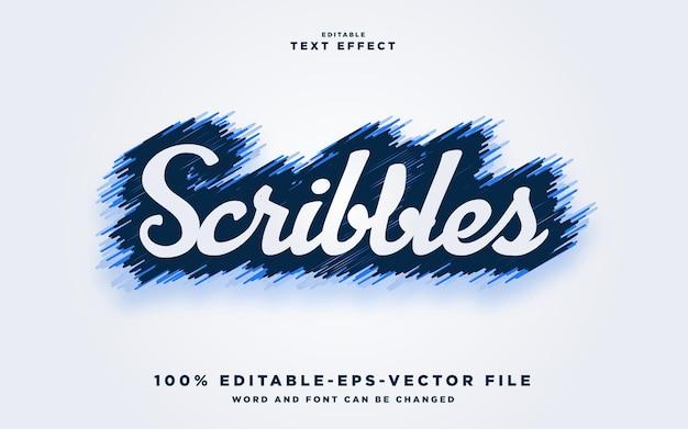 Krabbelstijleffect premium vector