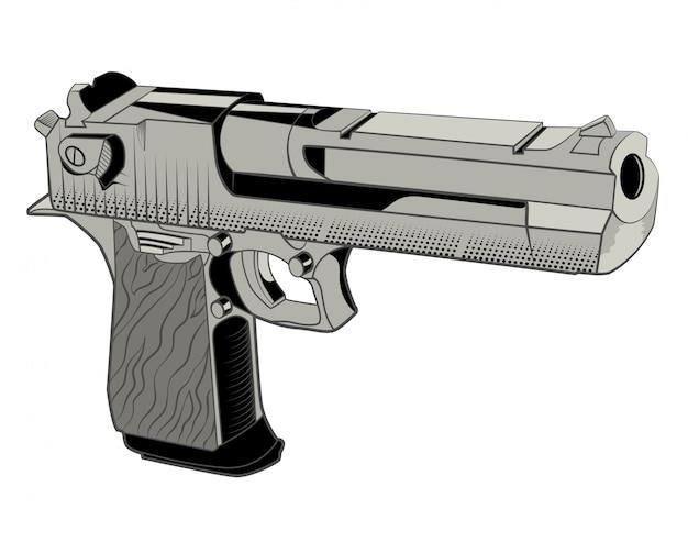 Krachtig pistool om te schieten