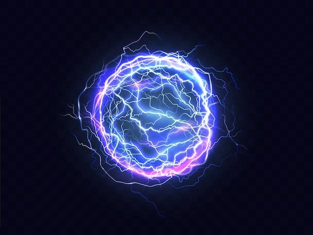 Krachtige elektrische ontlading, blikseminslag plaats realistisch