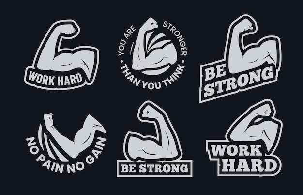 Krachtige inspirerende citaten van de biceps.