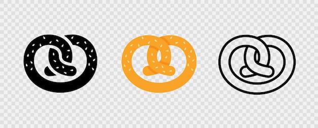 Krakeling. beierse duitse bretzel. oktoberfest-symbool.