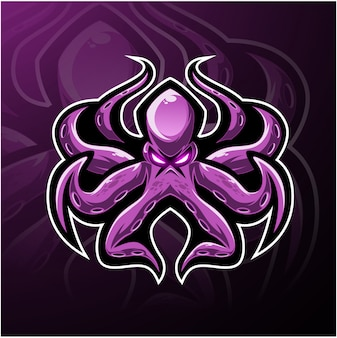 Kraken octopus esport mascotte logo