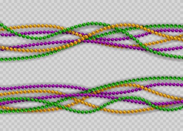 Kralen in traditionele kleuren. decoratieve glanzende realistische elementen