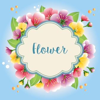 Krans gekleurde bloemenmalplaatje