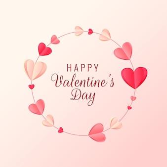 Krans hart papier ambacht voor valentijnsdag groet