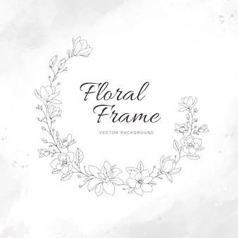 Krans magnolia bloemen frame