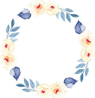 Krans van roze rozen