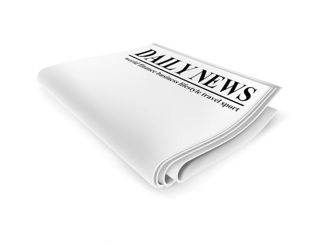 Krant. illustratie geïsoleerd