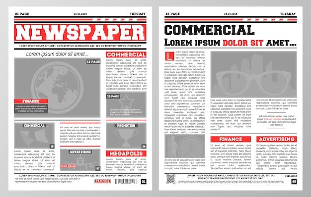 Kranten sjabloon