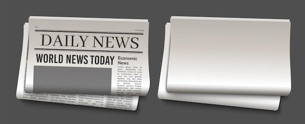 Krantenkopsjabloon Premium Vector