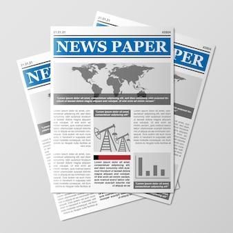 Krantenstapel wereldnieuws tijdschrift papierstapel dagboekhoop