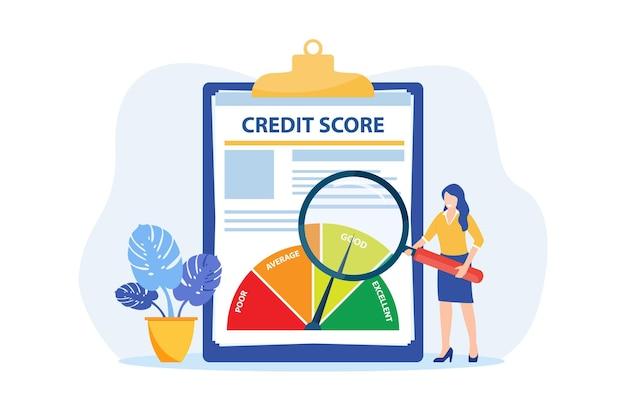 Krediet rapport document concept.