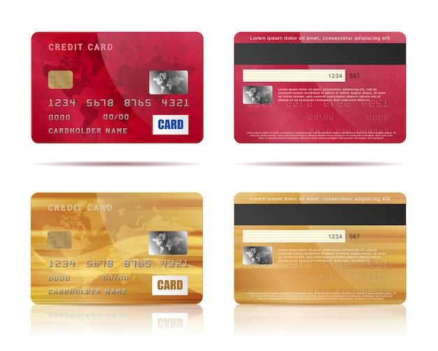 Kredietkaarten ingesteld