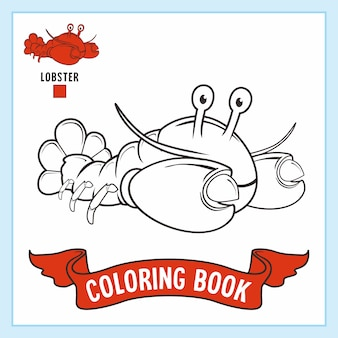 Kreeft animal coloring page book