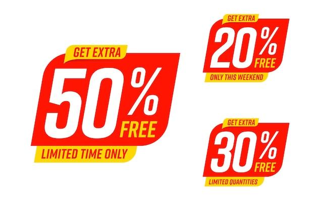 Krijg alleen in het weekend extra 50, 30, 20 procent gratis korting.