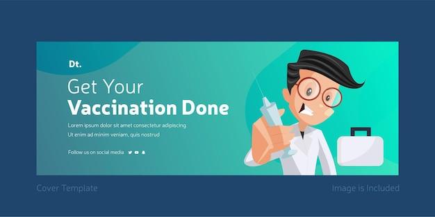 Krijg uw vaccinatie gedaan voorbladontwerp