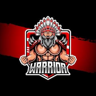 Krijger mascotte logo