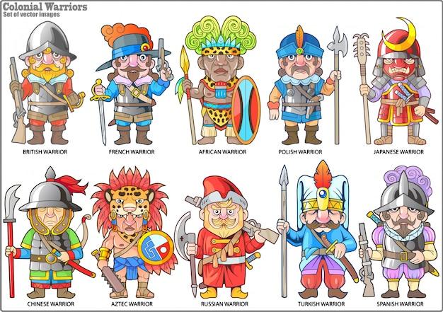Krijgers van verschillende landen