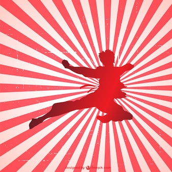 Krijgskunst silhouet vector
