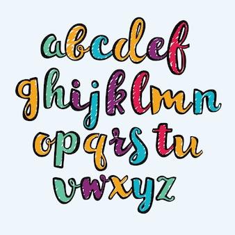 Krijt doodles lettertypen