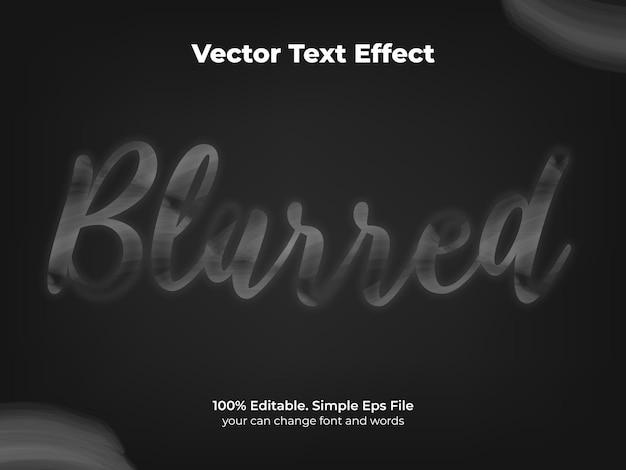Krijt schoolbord teksteffect wazig