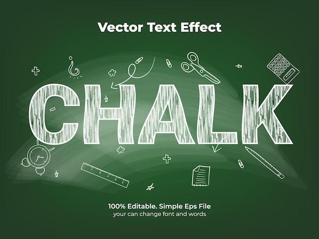 Krijt schoolbord teksteffect