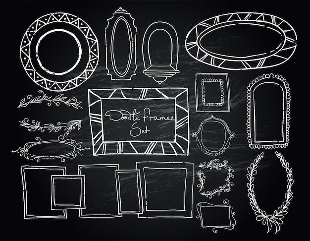 Krijtbord doodle kaders instellen