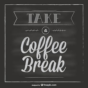 Krijtbord koffiepauze vector
