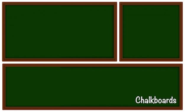 Krijtborden in drie verschillende maten