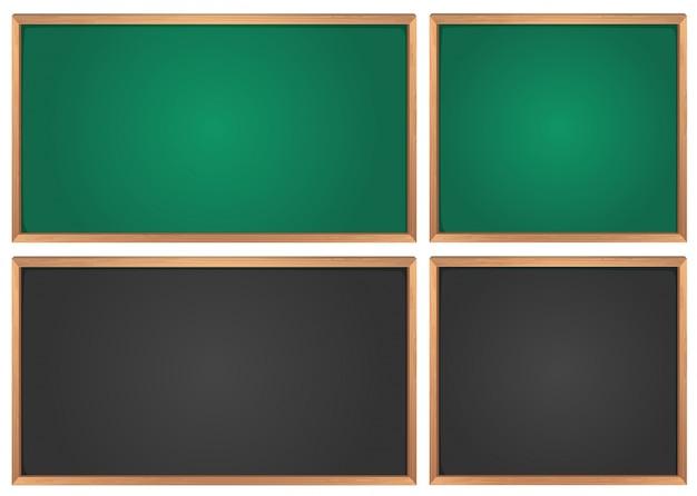 Krijtborden in groen en zwart