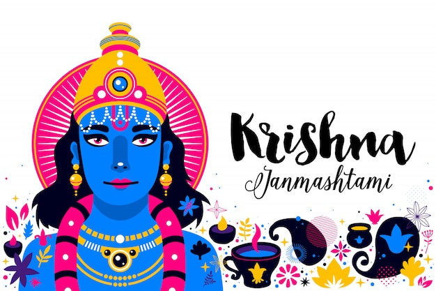 Krishna janmashtami advertentiesjabloon