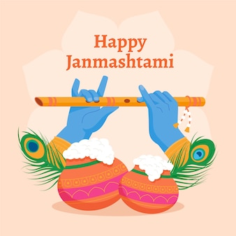 Krishna janmashtami illustratie