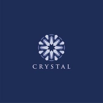Kristal diamant logo modern ornament