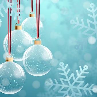 Kristallen kerstbal ornamenten