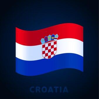 Kroatië golf vector vlag. wuivende nationale officiële kleuren en deel van de vlag. vector illustratie.