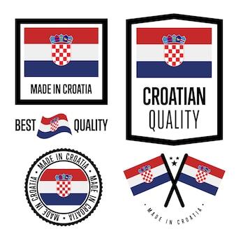 Kroatië kwaliteitslabel set
