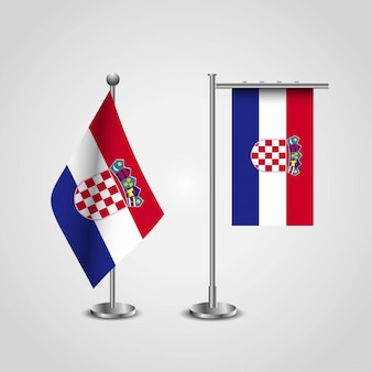 Kroatië vlag ontwerp vector