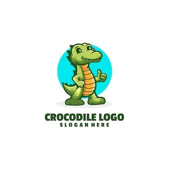 Krokodil cartoon logo ontwerp
