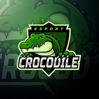 Krokodil hoofd gaming logo esport