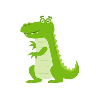 Krokodil karakter illustratie