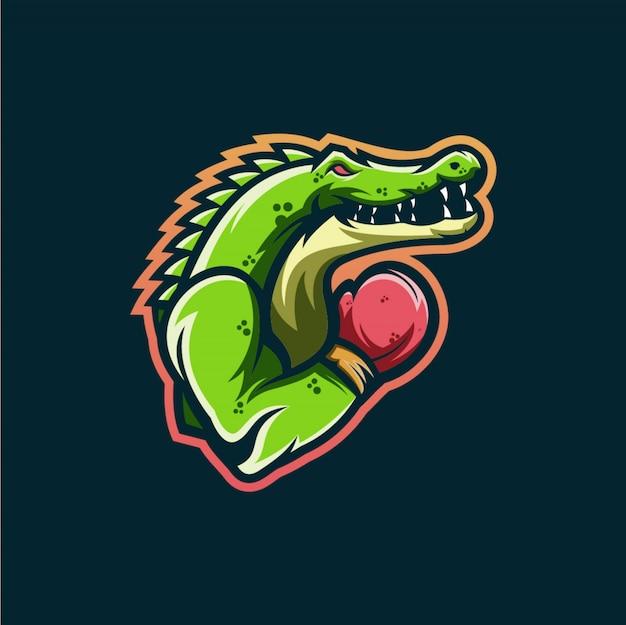 Krokodil logo esports ontwerp