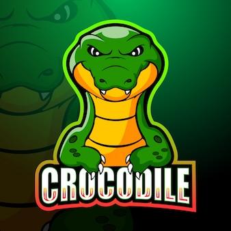Krokodil mascotte esport illustratie