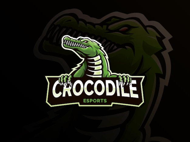 Krokodil mascotte logo