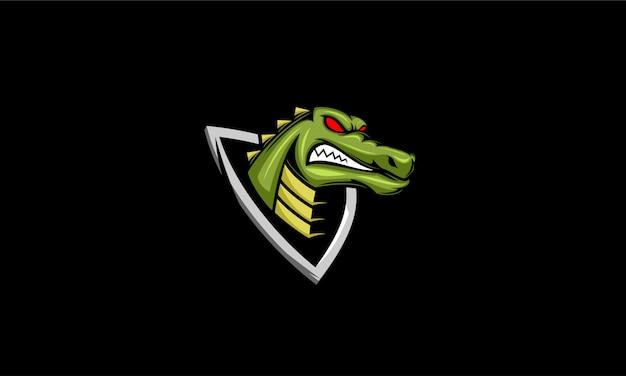 Krokodil mascotte ontwerp