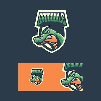 Krokodil sport concept illustratie