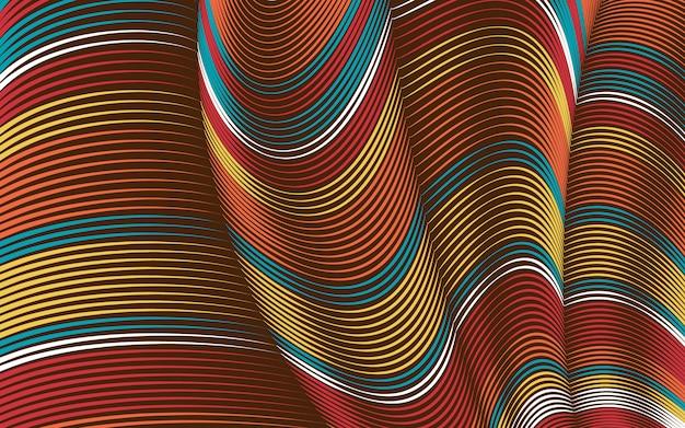 Kromgetrokken lijnen achtergrond