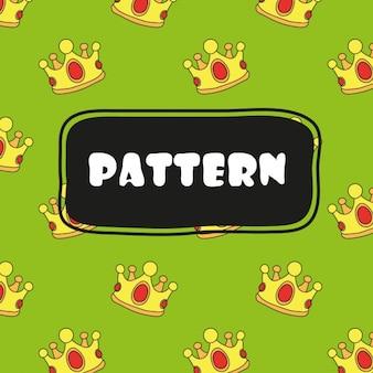 Kronen patroon ontwerp